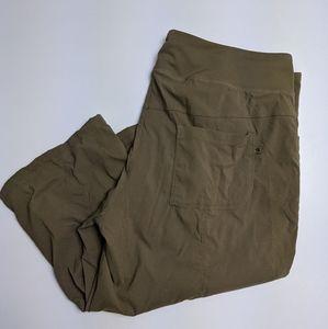 Mountain Hardwear Green Crop Pants XL